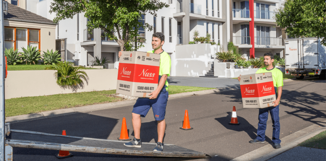Nuss removals team loading truck for interstate move